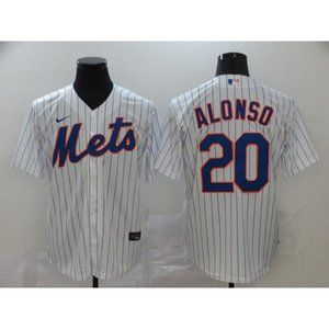 New York Mets Pete Alonso White Game Jersey